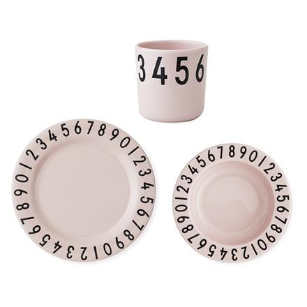 Design Letters The Numbers melamin gaveæske, Pink