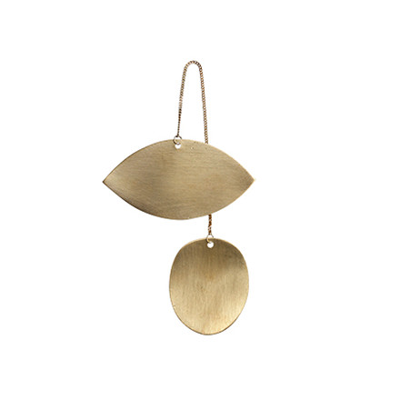 Ferm Living Øjeformet ornament t/ophæng, messing