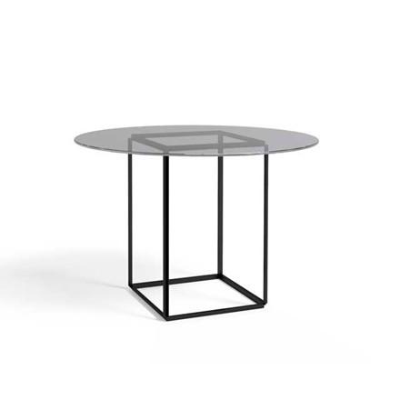 New Works Florence spisebord m/glasplade og jernstel i sort