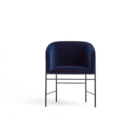 New Works Covert Chair spisestol, mørkeblå velour