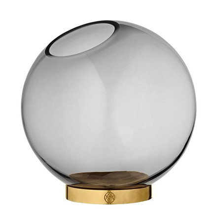 AYTM Globe vase m. messing stand, Medium