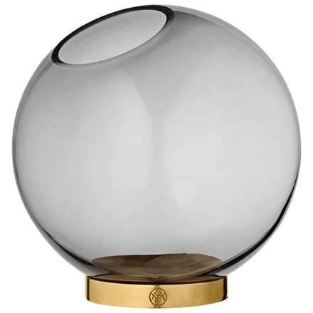 AYTM Globe vase m. messing stand, Large
