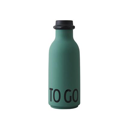 Design Letters To Go Vandflaske, Dark green