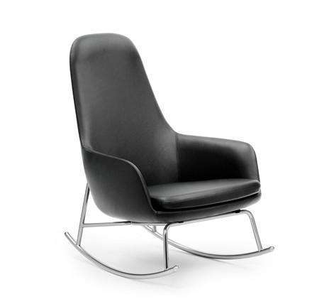 Normann Copenhagen Era Rocking Chair High, Læder