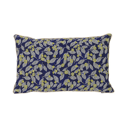 Ferm Living Salon Cushion, Flower Blue