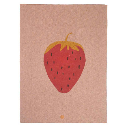 Ferm Living Fruiticana Strawberry tæppe