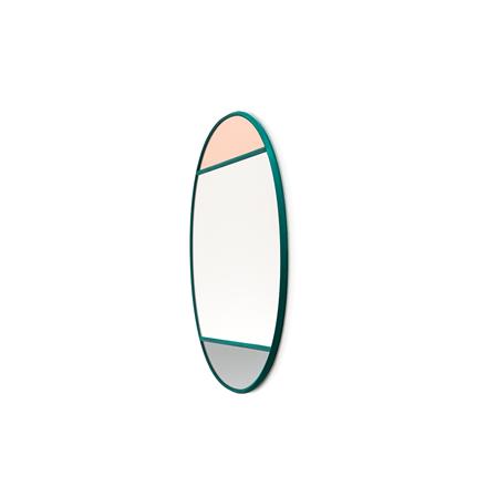 Magis Wall Mirror Vitrail 1, spejl i grå/rosa - 60x50 cm