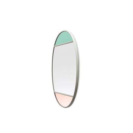 Magis Wall Mirror Vitrail 4, spejl i grøn/rosa - 60x50 cm
