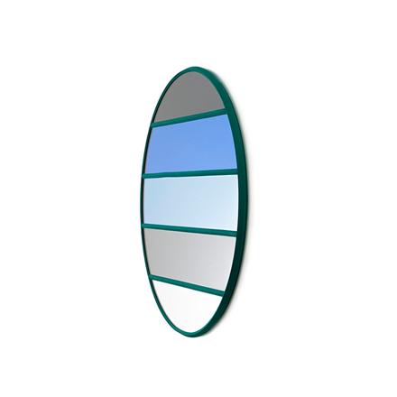Magis Wall Mirror Vitrail 7, spejl i grå/blå striber - Ø50 cm
