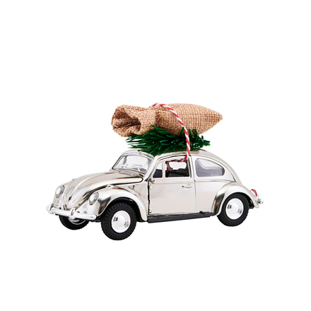 House Doctor MINI XMAS Car julepynt m/ julegaver, krom