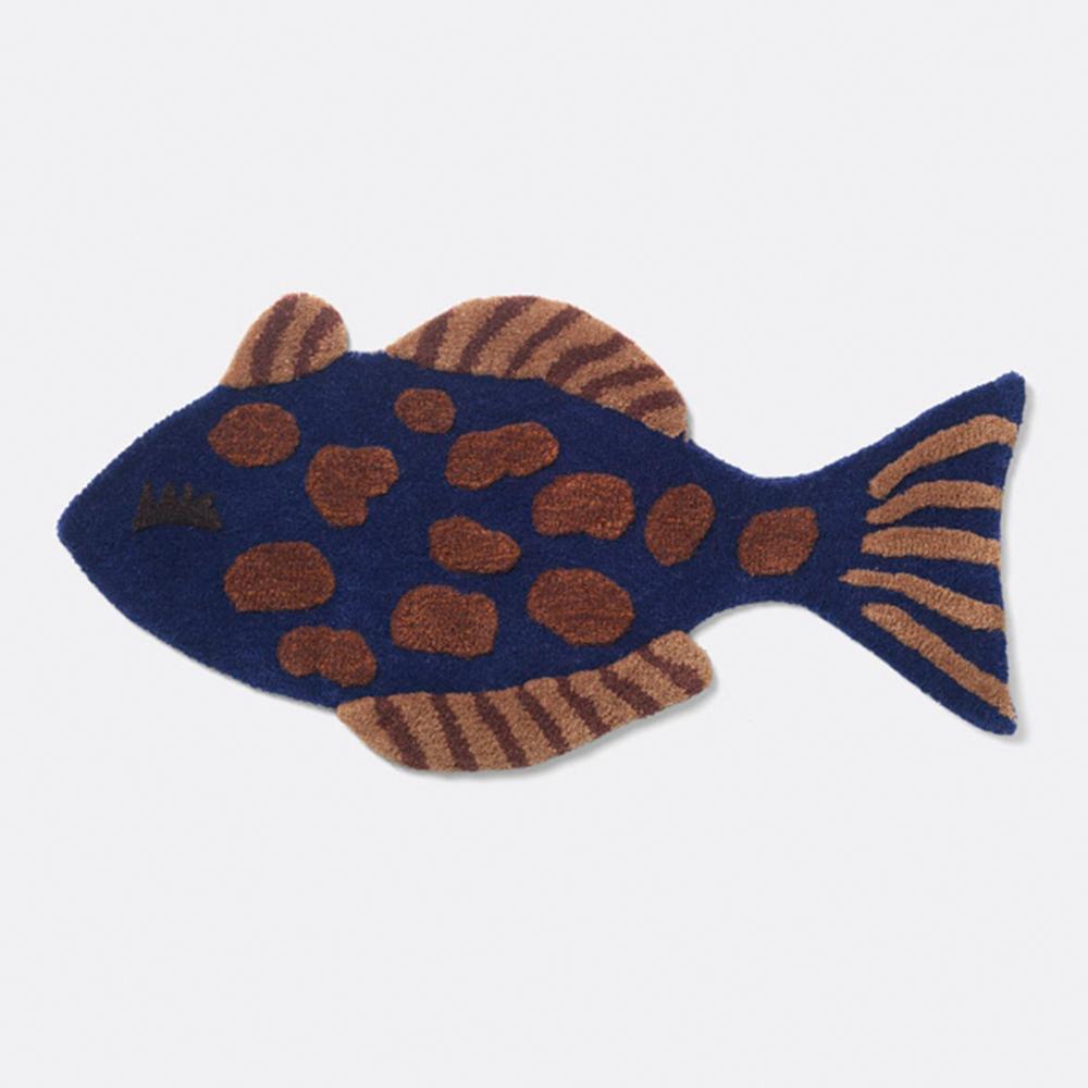 Ferm Living Tufted Deco tæppe - Fish
