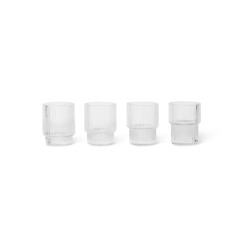 Ferm Living Ripple Small Glas, 4 Stk.