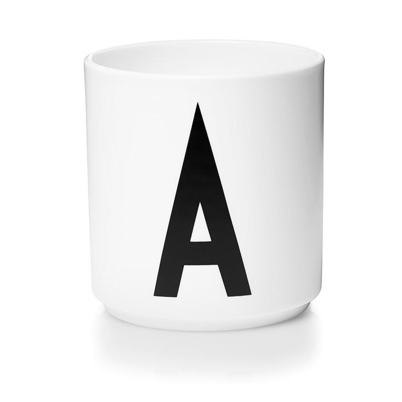 Design Letters personal porcelæn kop, hvid