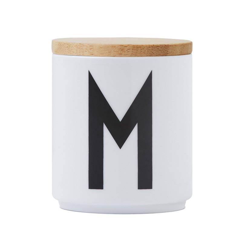 Design Letter låg t/porcelæns kop, træ