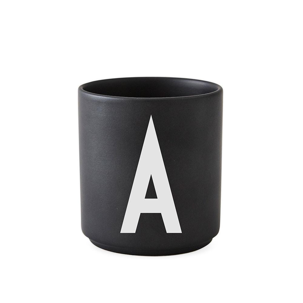 Design Letters personal porcelæn kop, sort