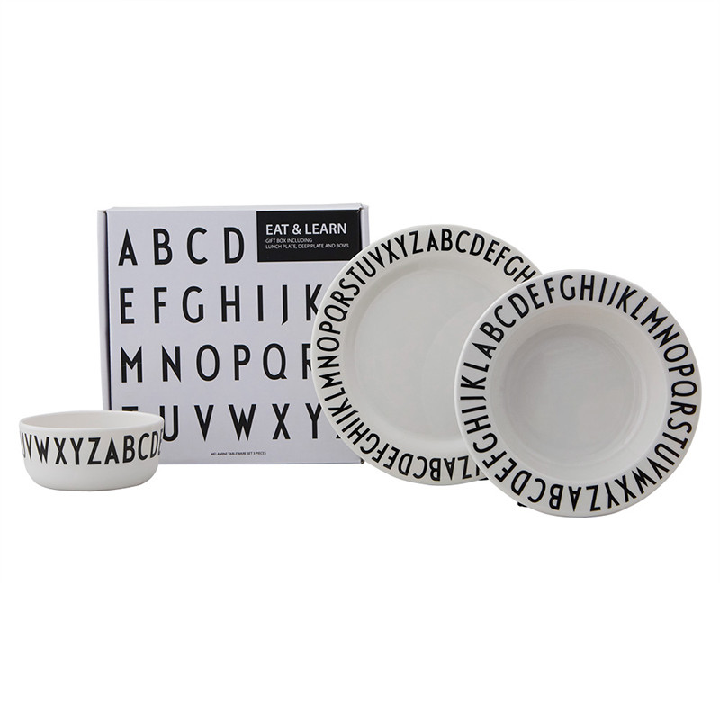 Design Letters Melamine eat & learn gaveæske
