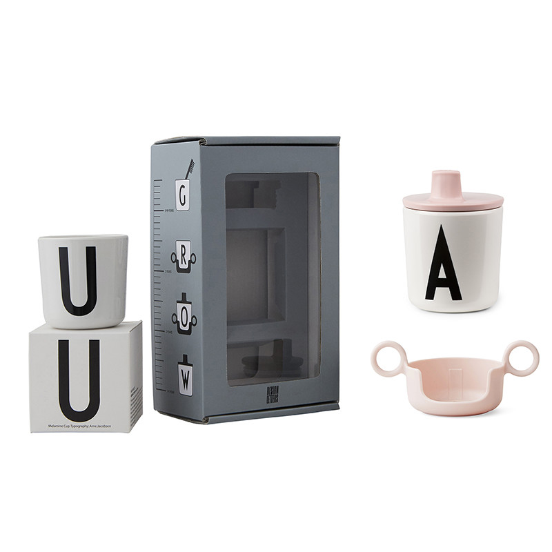 Design Letters Grow with your cup gaveæske, pink