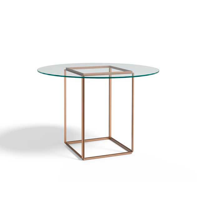 New Works Florence spisebord m/glasplade og jernstel i guld