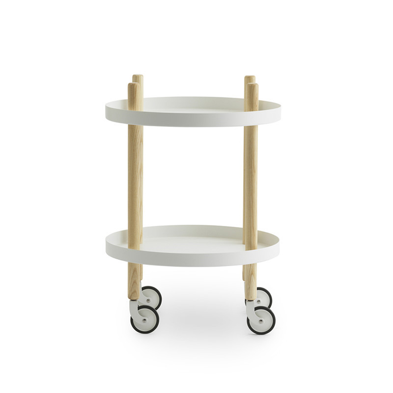 Normann Copenhagen Block Table Round, hvid