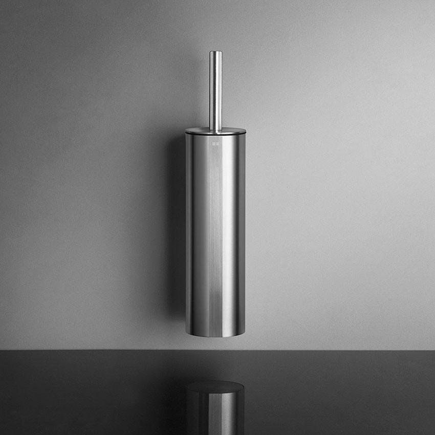 Unidrain Reframe toiletbørste t/ophæng, børstet stål