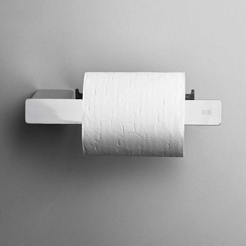 Unidrain Reframe toiletrulleholder, blankt stål