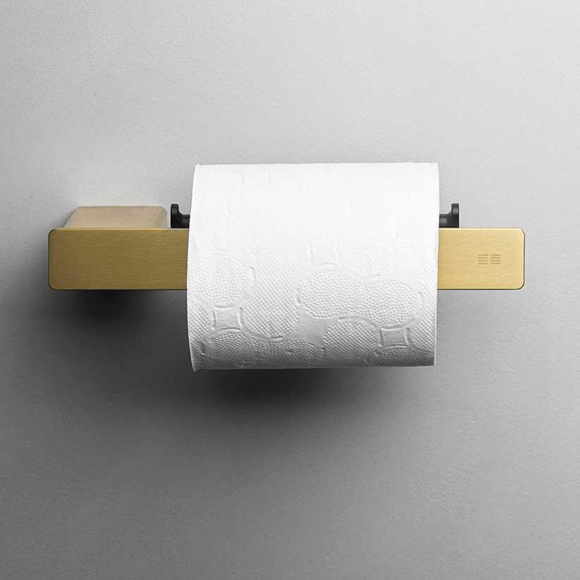 Unidrain Reframe toiletrulleholder, messing