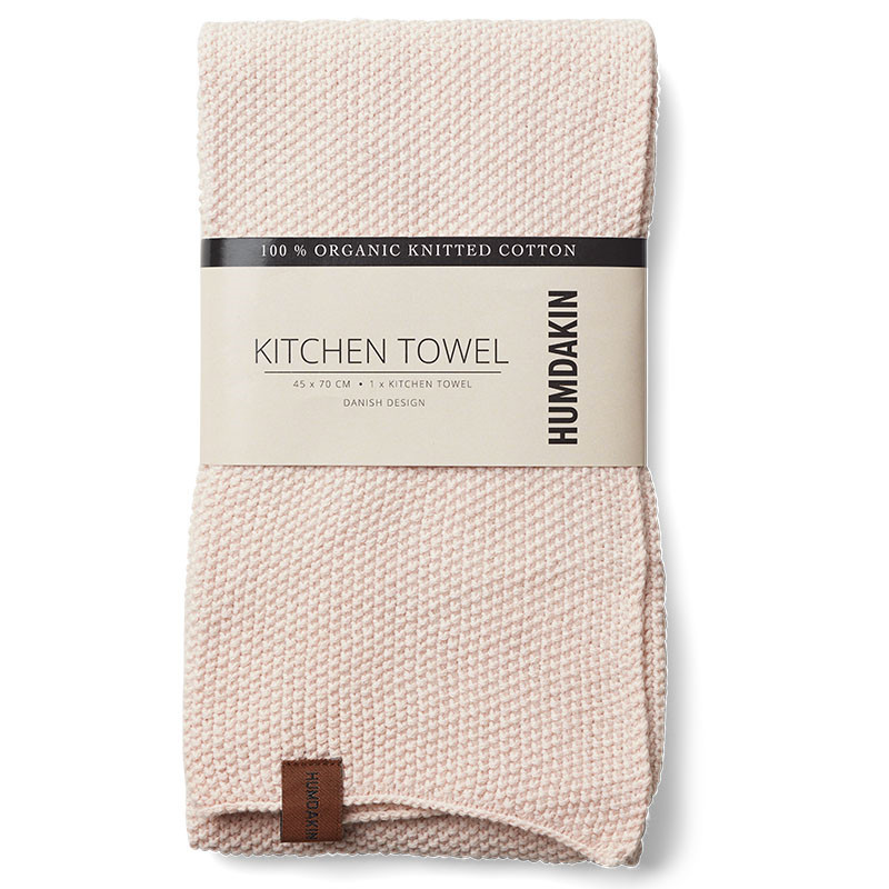 Humdakin Knitted Kitchen tea towel, Viskestykke m/ 2 stk. Rose