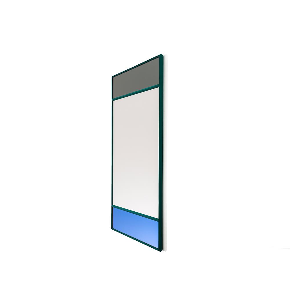 Magis Wall Mirror Vitrail 3, spejl i grå/blå - 70x50 cm