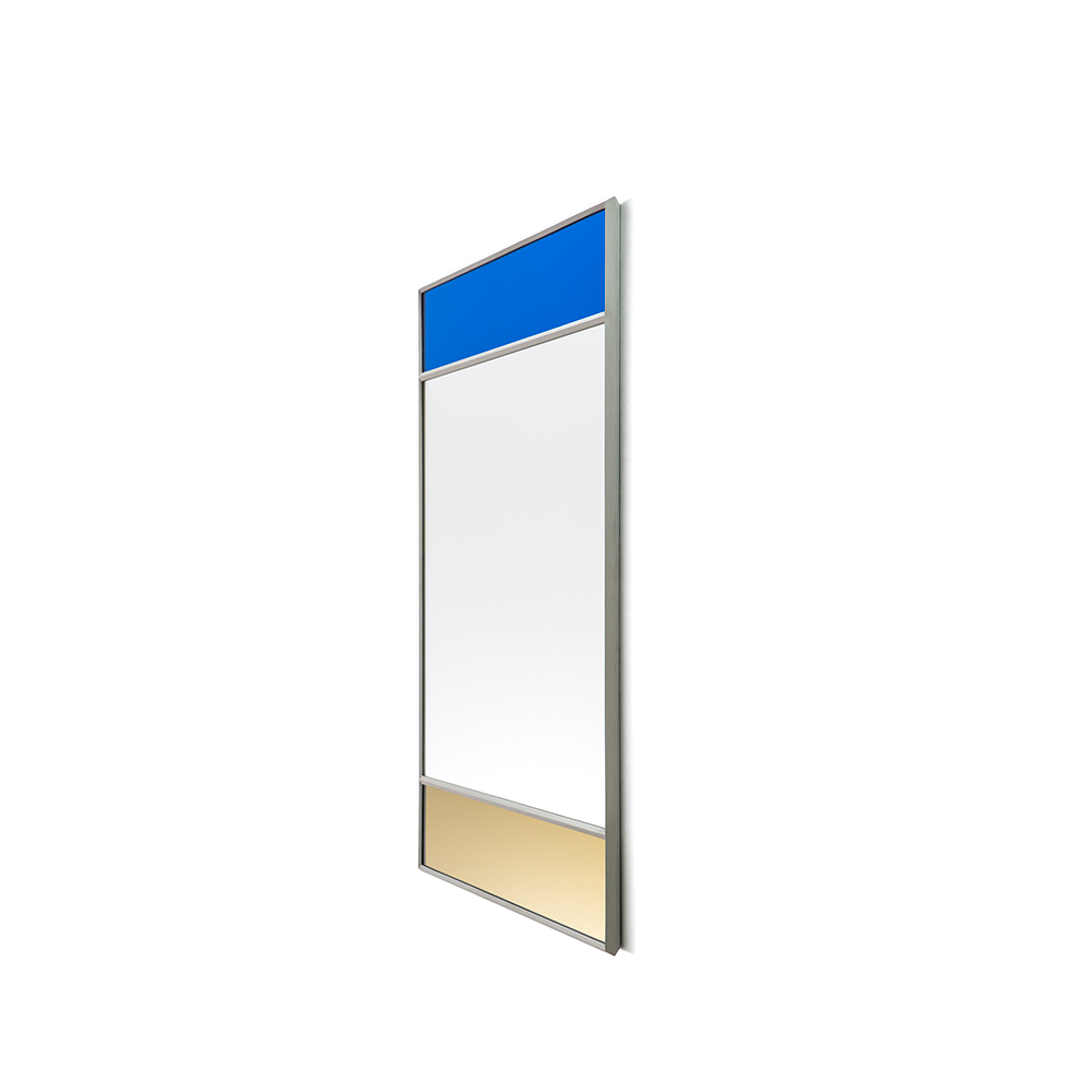 Magis Wall Mirror Vitrail 5, spejl i guld/blå - 70x50 cm