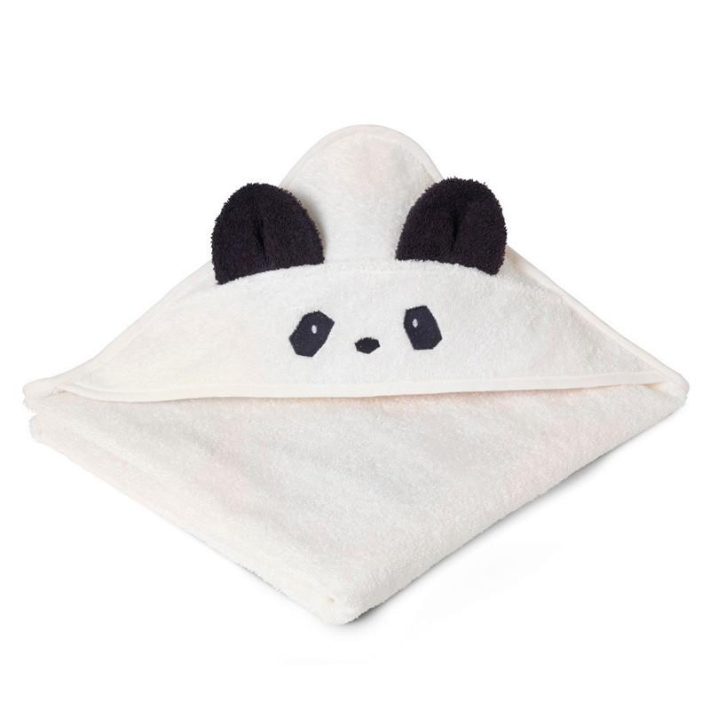 Liewood Panda håndklæde m/ hætte, creme de la creme