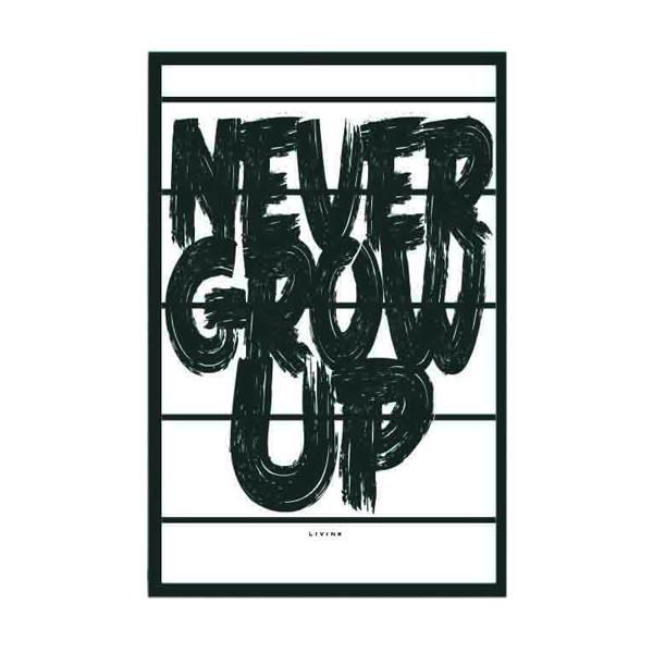 Livink plakat Never grow up A3