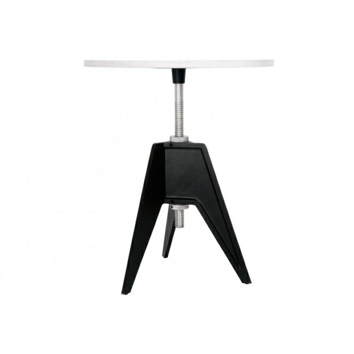 Tom Dixon Screw Table, Marmor bordplade Ø 60 cm.
