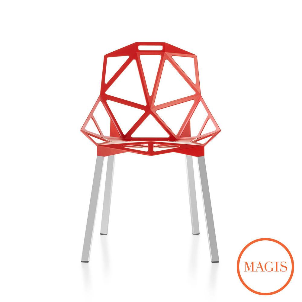 Magis Chair One stol, med aluminiums ben