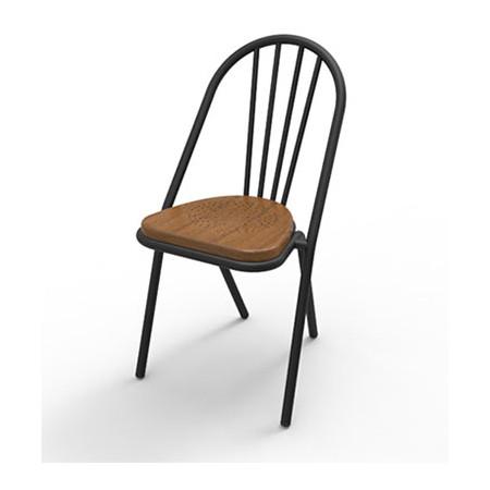 Surpil SL10 stol, Mørk lakeret krydsfiner