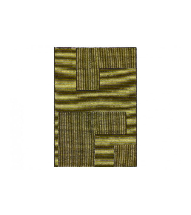 Tom Dixon Stripe Rug Rectangular, gulvtæppe i sort/gul