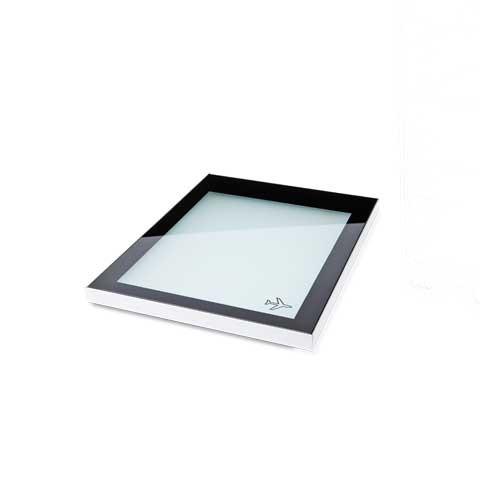 Bordbar hylde i glas m/ LED lys