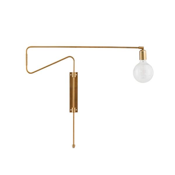 House Doctor Væglampe 70cm, Swing