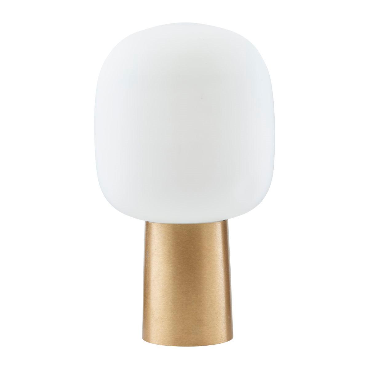 House Doctor Note bordlampe i messing m/ hvid skærm