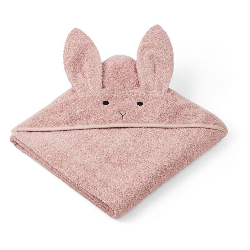 Liewood Augusta Rabbit håndklæde, Rose