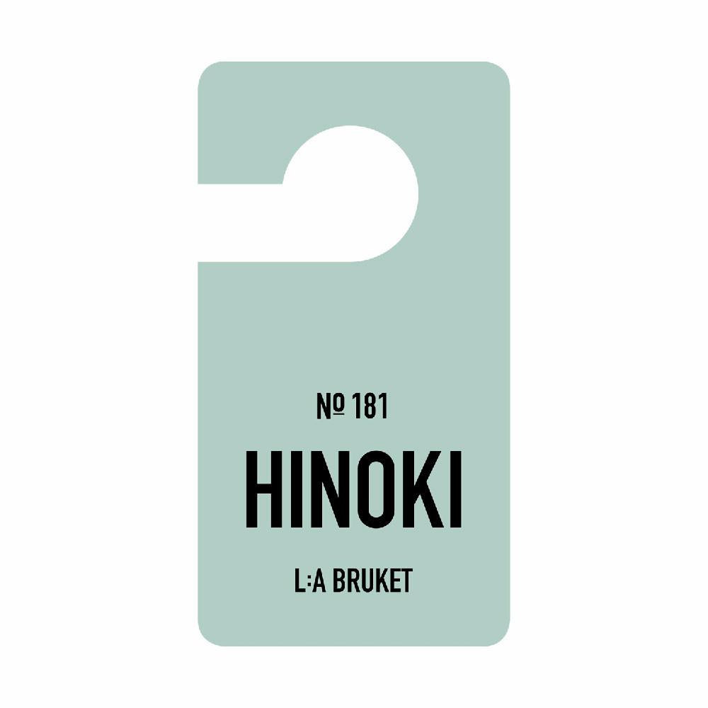 L:A Bruket Fragrance tag, Hinoki