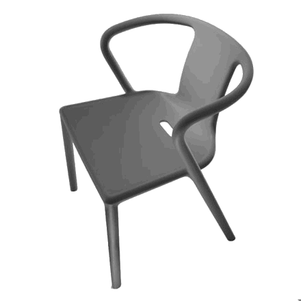Magis Air Armchair stol i Grey Anthracite