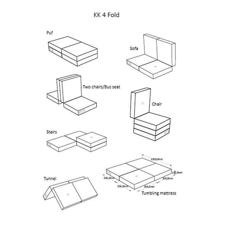By Klipklap KK 4 fold single, foldemadras