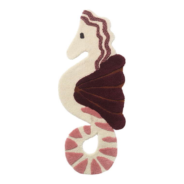 Ferm Living Tufted Deco tæppe - Seahorse