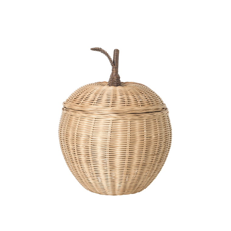 Ferm Living Apple Braided Storage, opbevaringskurv
