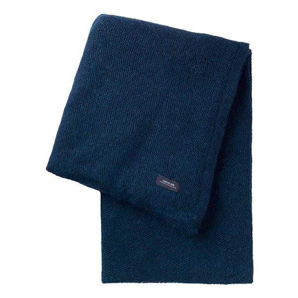 Louise Roe Pique Knit plaid, mørkeblå
