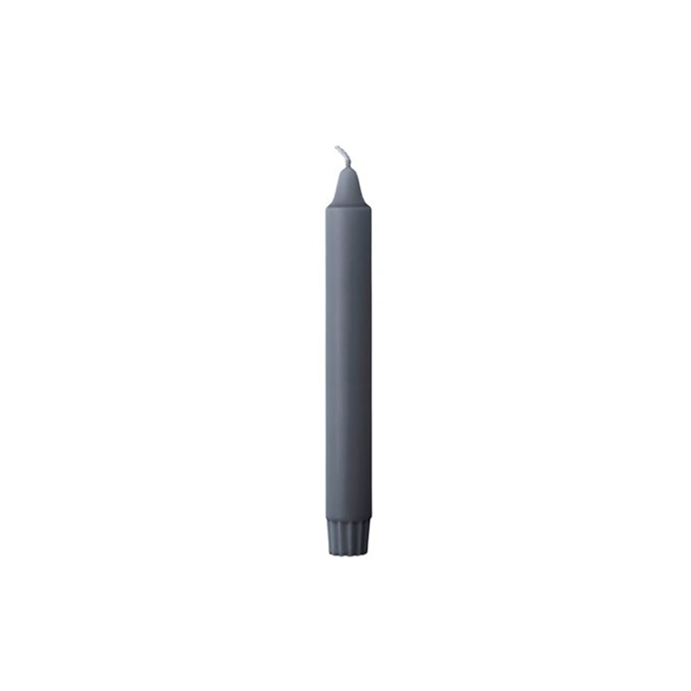 by Lassen stearinlys, grå i pakke m/15 stk.