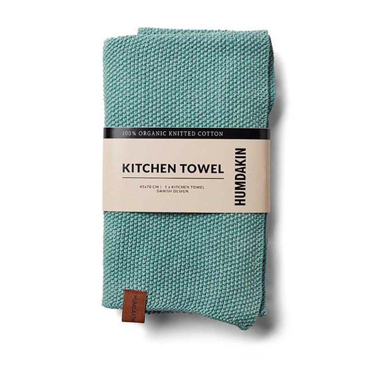 Humdakin Knitted Kitchen tea towel, Viskestykke 2 stk. Dusty Green