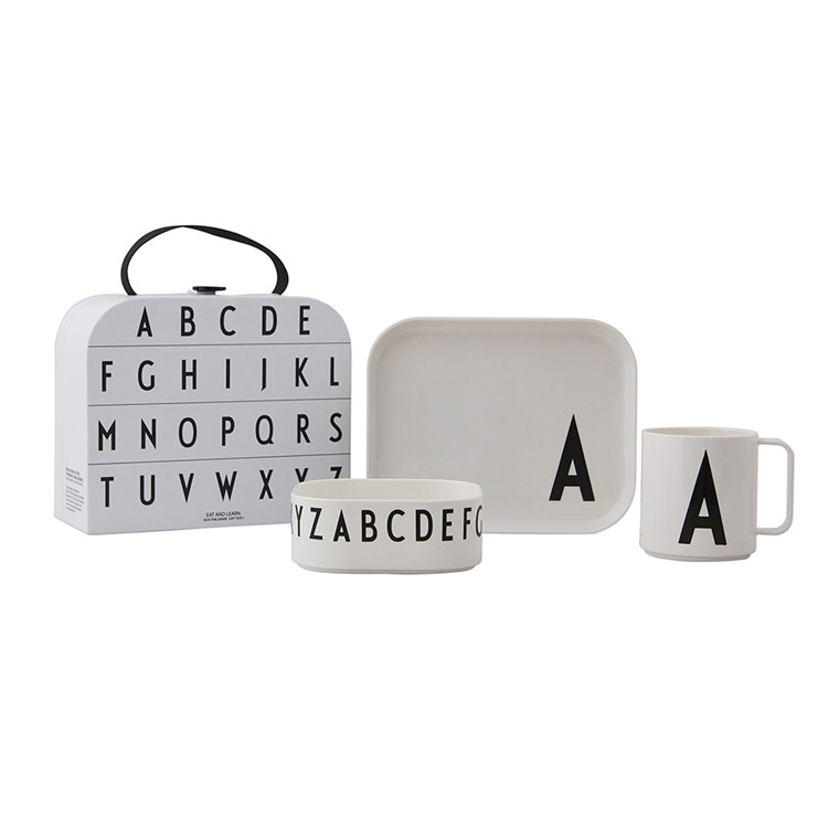 Design Letters Classics in a suitcase, serviesset