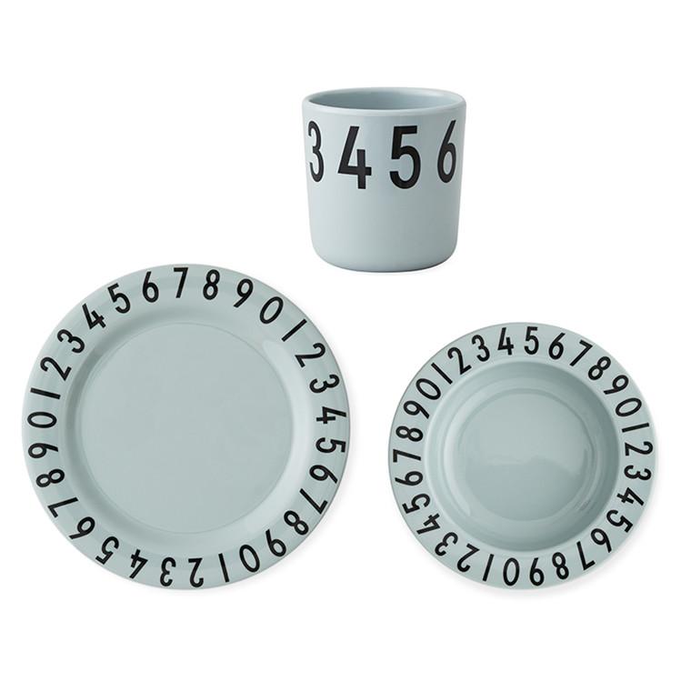 Design Letters The Numbers melamin gaveæske, Grøn