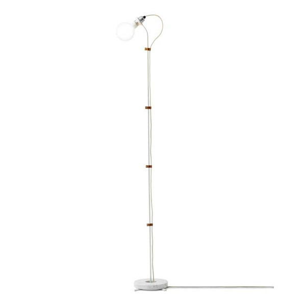 New Works Five Floor lamp gulvlampe i hvid
